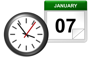 Online date and time clock