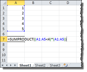 Boolean SUMPRODUCT Example