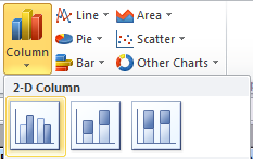 Column Chart Selection