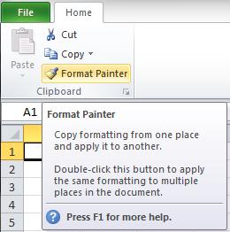 Format Painter Menu