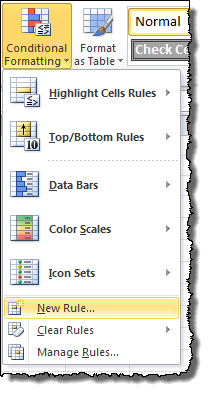New Conditional Formatting Rule