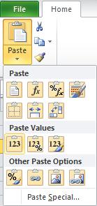 Paste Values