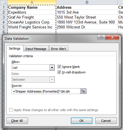 How to Fill Out Forms using Data Validation and VLOOKUP in Excel