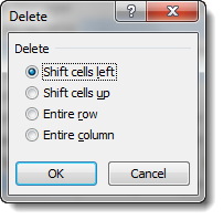 Shift Cells Left