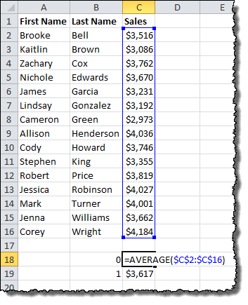 Average Value Calculation