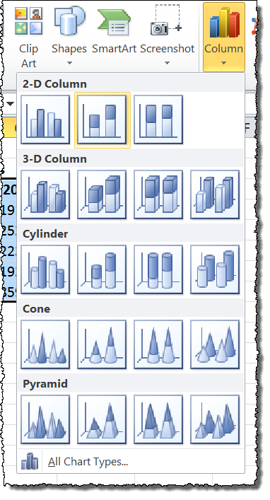 How to Show Percentages in Stacked Bar and Column Charts in