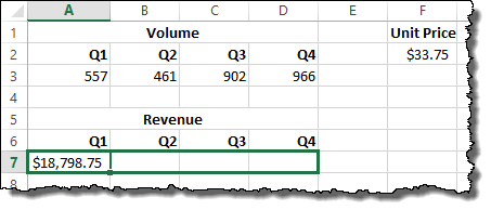 Dragging an Excel formula with locked cell references.